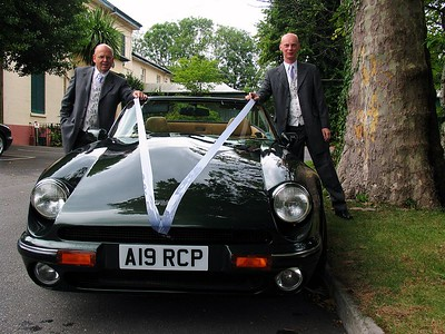 Oliver and the best man with the BM's TVR.