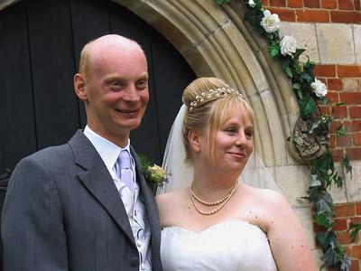 The happy couple, post ceremony.
