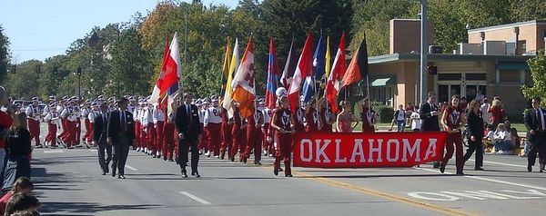 """<font size=""""3"""">The OU Marching Band</font>"""