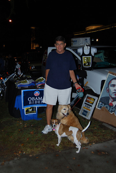 dogs care a lot about this election apparently. There were lots of them out there.