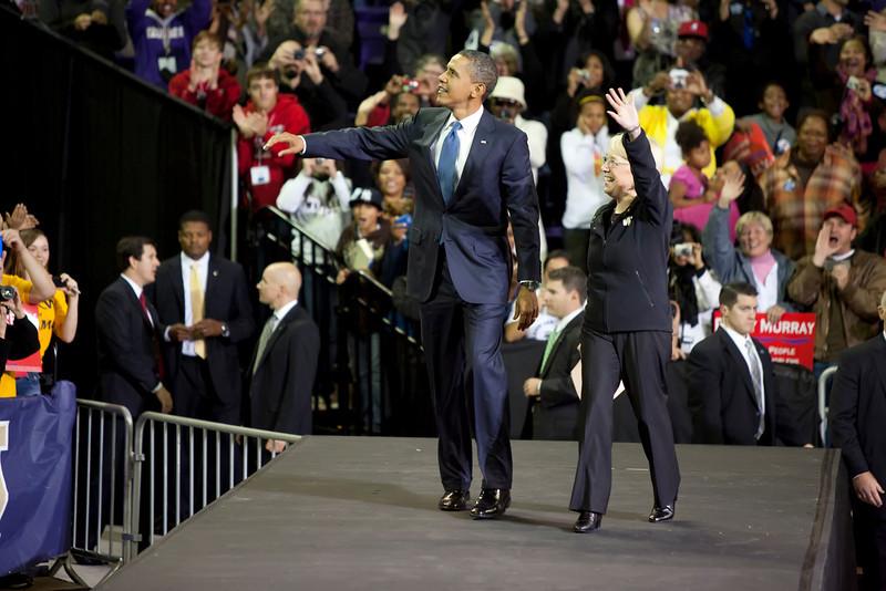 Barack Obama_ Patty Murray Seattle WA 10-21-2010