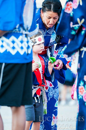 The annual Obon festival was held at the Buddhist Church of Ogden where members of the church and community came together to dance and enjoy the drumming of the Ogden Buddhist Taiko Group. Photo taken in Ogden on July 19, 2014. (ROBBY LLOYD/Standard-Examiner)