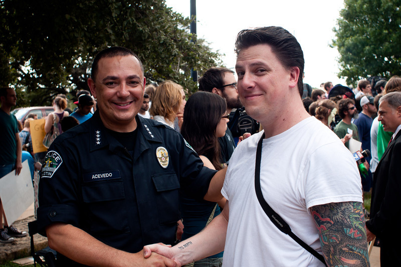 Me with Austin Police Chief Art Acevedo