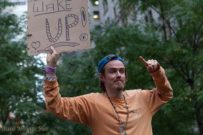 Occupy Wall Street Protest, New York City 2011. Wake Up!
