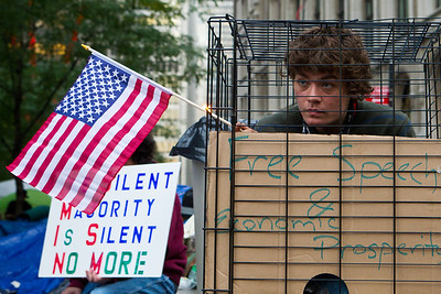 Occupy Wall Street Protest, New York City 2011. Free Speech & Economic Prosperity