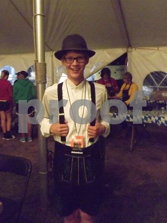 Stephan Crowl helping out at Octoberfest.