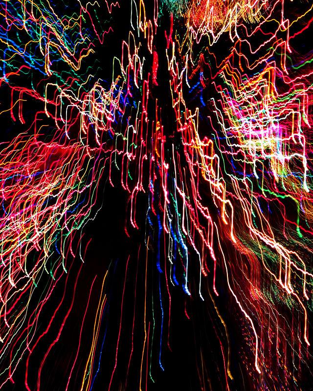 Light string art.
