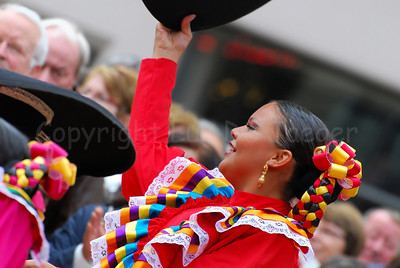 A female Tango dancer during the OdeGand festivities in Ghent (Gent), Belgium.