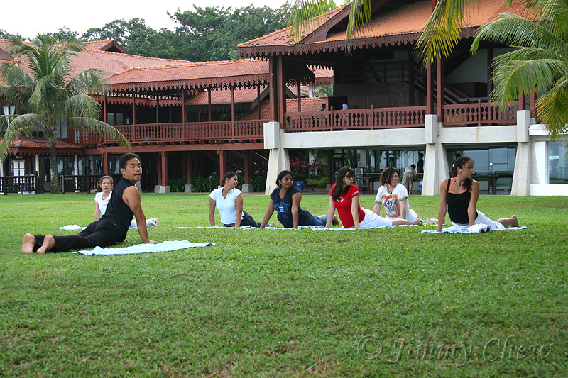 Yoga session.