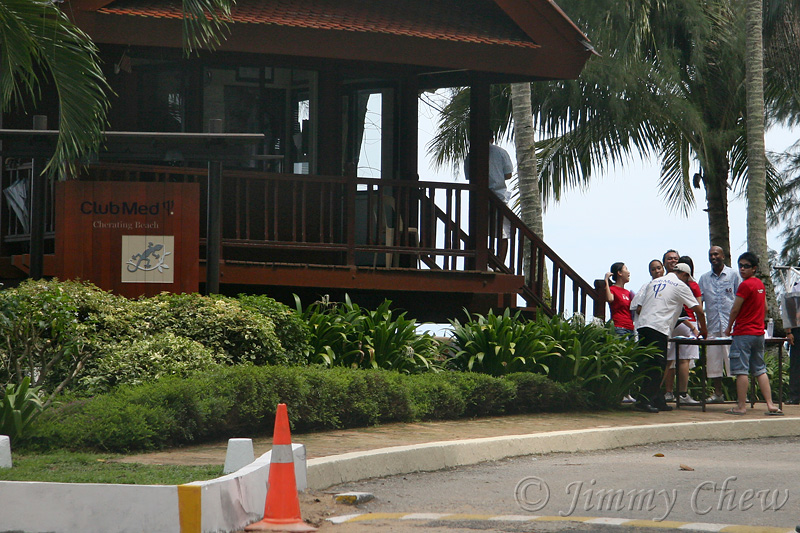 Checkpoint at the guardhouse, far from village lobby.