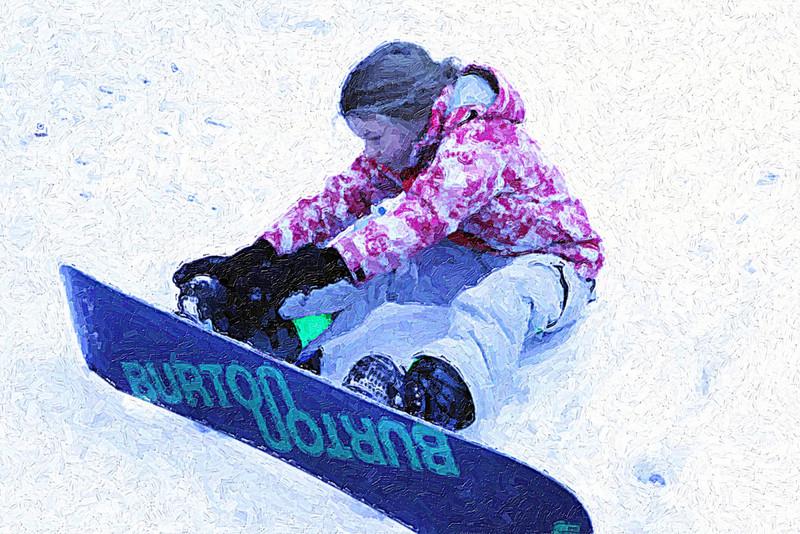 A Lesson In Snow Boarding!