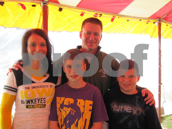 Jody and Chad Lennon with sons Tommy and Brandon attended Oktoberfest 2012.