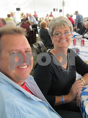 Dave and Becky Ostheimer attended the polka fest at Oktoberfest 2012.