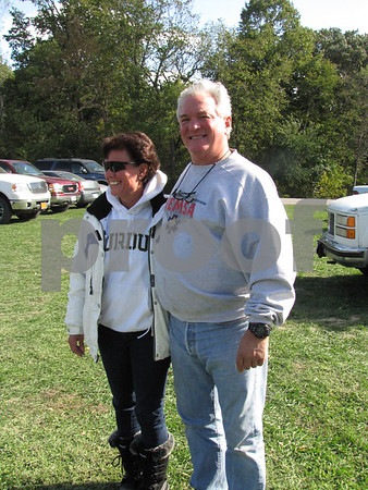 Amy Bruno and John Copper attended Oktoberfest at Oleson Park.