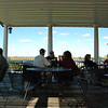 The porch and view at Soaring Wings Vineyards.