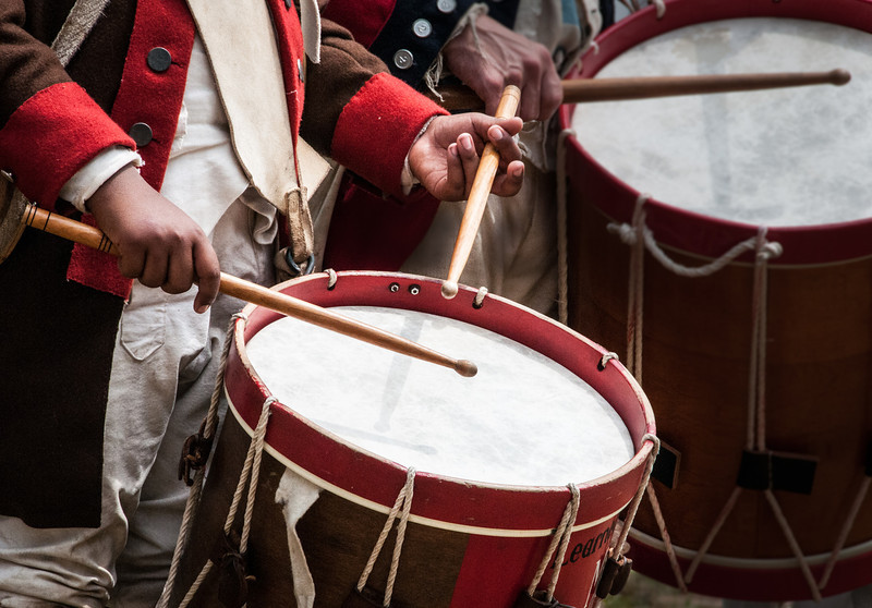 And The Beat Goes On<br /> Revolutionary War Reenactment<br /> Old Sturbridge Village<br /> Sturbridge, Mass
