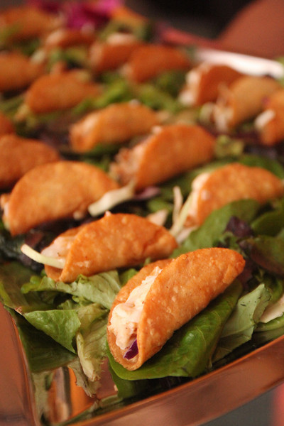 """Our soon-to-be-famous """"Mini Crispy Fish Tacos"""""""
