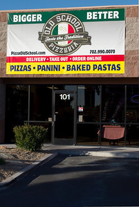 Hand tossed artisan Italian authentic Old School Pizzeria by Chef Gio at Old School Pizzeria 2040 East Craig Road North Las Vegas Nevada 89030 phone 702-990-0070 delivery take out order online www.pizzaoldschool.com in this picture. Old School Pizzeria is run by Chef Giovanni Mauro formerly of Nora's Wine Bar LV. For Neapolitan Italian dough pizza visit Old School Pizzeria in North Las Vegas across from Cannery Casino.