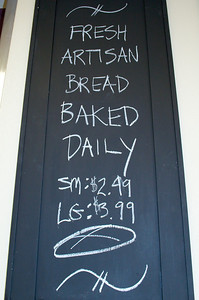 Hand made artisan bread is made daily by Chef Gio at Old School Pizzeria in this photo.