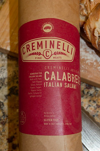 image Calabrese Italian Salami is the only salami or pepperoni Chef Gio uses on his artisan Italian pizzas it is very expensive but adds rich deep flavor.