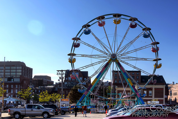 "The 'Portland Eye"" - a ferris wheel set up on the waterfront (in DiMillo's lot) for the Old Port Festival weekend."