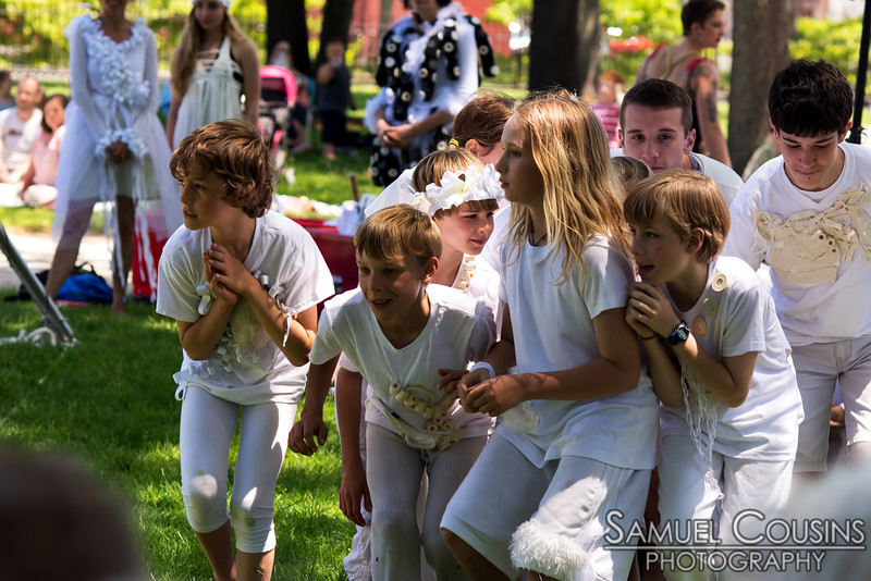 Performers from the Circus Conservatory of America in Lincoln Park on Saturday, as part of the Old Port Festival.