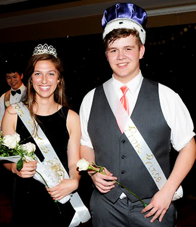 Photo courtesy of Randy Amick | TriState Studios<br /> Princess Anya Smith and Prince Bobby Ash represented juniors on the OA prom court.
