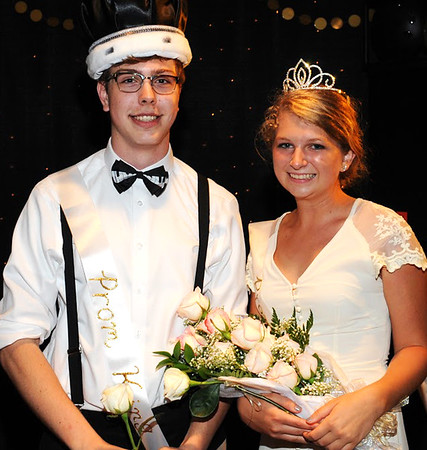Photo courtesy of Randy Amick | TriState Studios<br /> Seniors Christopher Jarman and Ivy Glaser were crowned king and queen of the Oldenburg Academy Prom.