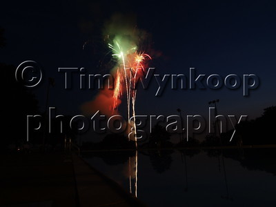 Ole Towne Festival Fireworks at Walters Park Pool