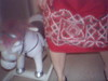 Kelly with unicorn.