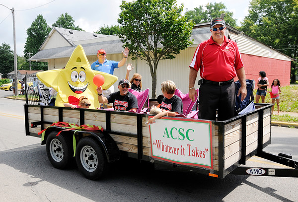 Don Knight | The Herald Bulletin Ollie Dixon Back-to-School parade on Saturday.