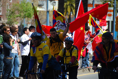 Free Tibet cyclists