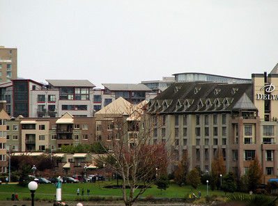 View of our condo building from where I was standing.