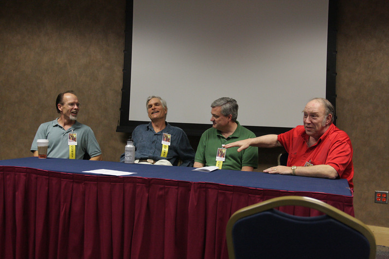 Chris A. Jackson, David Drake, Bill Snodgrass, and  Mike Resnick at the 2008 OmegaCon, Birmingham, Alabama
