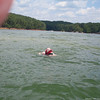 Dad treading water after he came of at over 50mph! He was ok thank goodness.