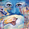 """The Touch of a Hand:"" acrylic by a health care professional in Alabama."