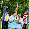 Record-Eagle/Loraine Anderson<br /> Valerie Anderson Maidens, whose family was deeply involved in the restoration project, reads a poem.