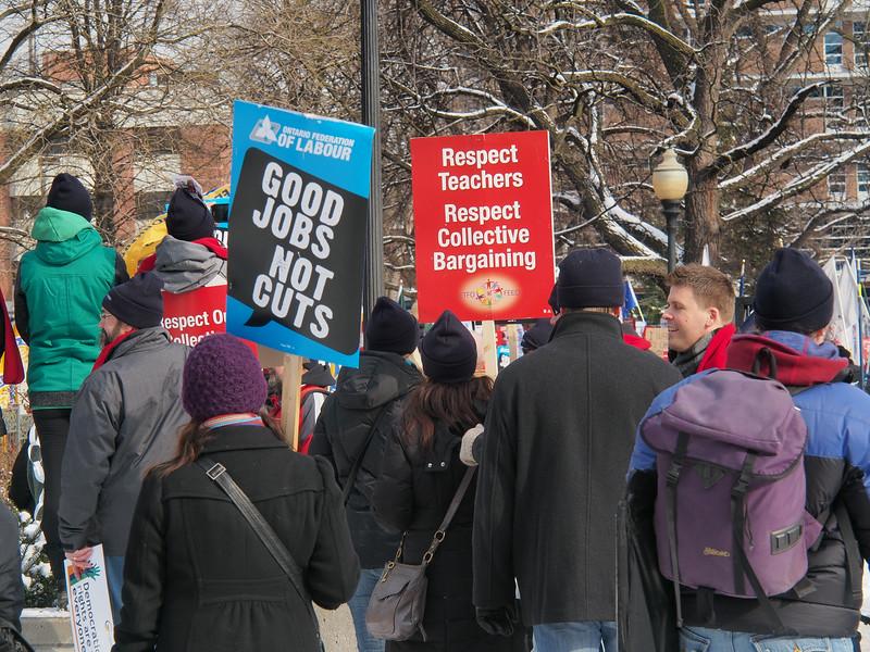 Jan. 26/13 - Ontario Labour rally in Allan Gardens, Toronto
