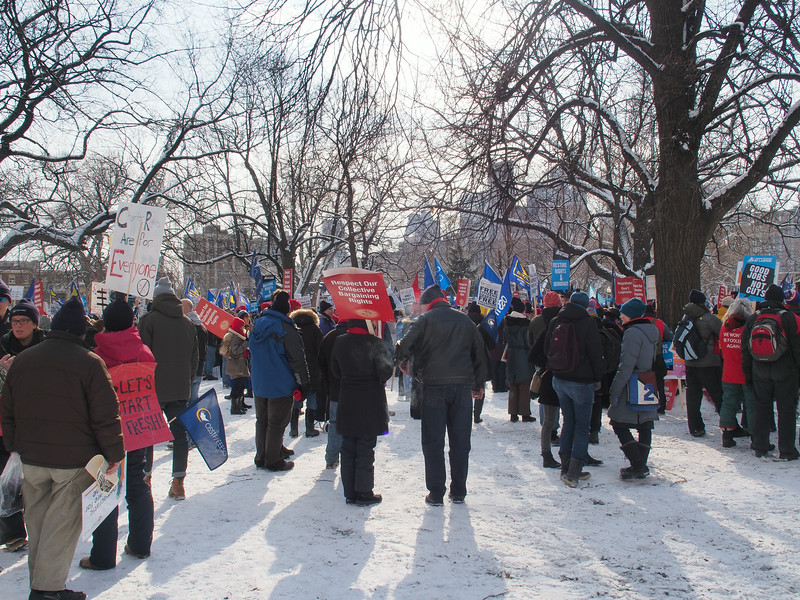 Jan. 26/13 - Ontario Labour rally in Allan Gardens, Toronto