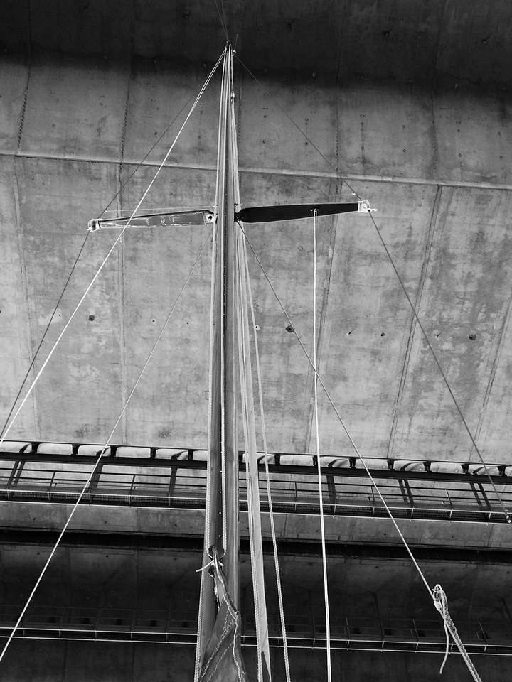 Under the first bridge we go.