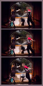 Monkey - Circus Freak Sideshow, with Volunteer Alicia Open Stage 121210 0164