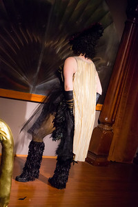 Ginger Rockafella (of Whiskey Tongue Burlesque) Open Stage 121217 0090