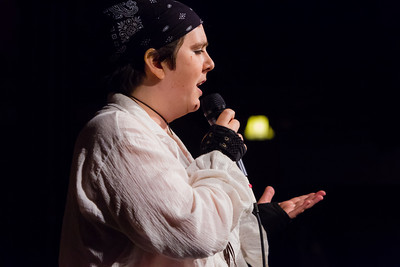 Moon the Pirate on strong women of history: Sharing love makes history Open Stage 130304 0400