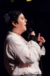 Moon the Pirate on strong women of history: Sharing love makes history Open Stage 130304 0406