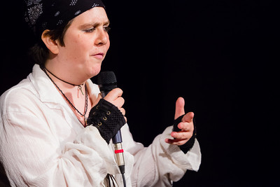 Moon the Pirate on strong women of history: Sharing love makes history Open Stage 130304 0372