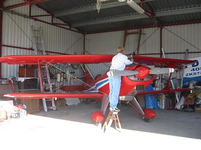 Open cockpit biplane, September 2004