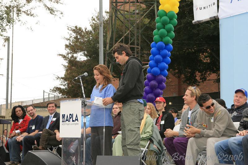 AIDS Walk Los Angeles  Kimberly McCullough, General Hospital  Jason Thompson, General Hospital