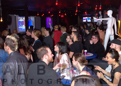 """Crowd setting up to watch """"VH1's Master of The Mix"""""""