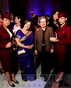 Zabeth Teelucksingh (Executive Director, Global Philadelphia Association) with  Linda Conlin (World Trade Center)