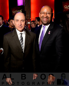 His Excellency Mr. Akba Al Baker (CEO, Qatar Airways) with the honorable Mayor Michael Nutter